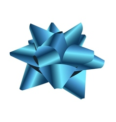 Gift bow isolated on white vector image vector image