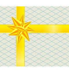 Gold Ribbon on Retro Isometric Background Yellow vector image