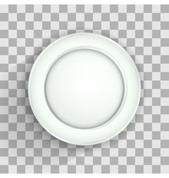 Plate on transparent vector image