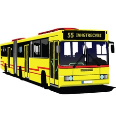 public buses vector image vector image