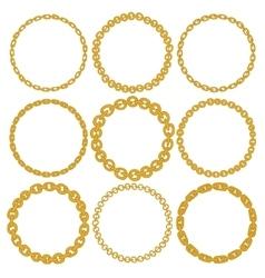 Set of 9 decorative circle border frames vector image vector image