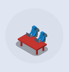 team work competition cooperation isometric vector image