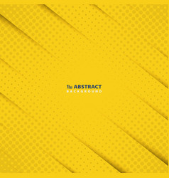 abstract yellow paper cut pattern background vector image