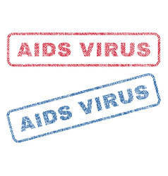 aids virus textile stamps vector image