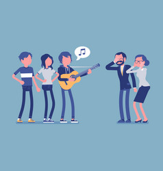 Annoying music conflict vector