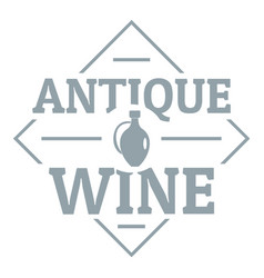 antique wine logo simple gray style vector image