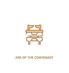 Ark convenant concept 2 colored icon vector