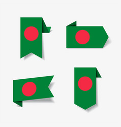 bangladeshi flag stickers and labels vector image