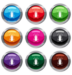 Beetle bug set 9 collection vector