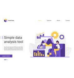 big data analysis website vector image