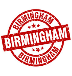 Birmingham red round grunge stamp vector