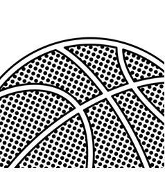 black dotted basketball background vector image