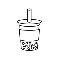 Bubble tea or pearl milk tea vector