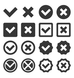 Checkbox icon set vector
