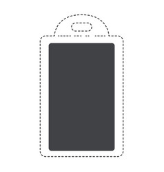 Chopping board utensil black silhouette and dotted vector