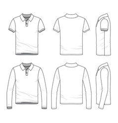 Clothing set of male golf polo shirt vector