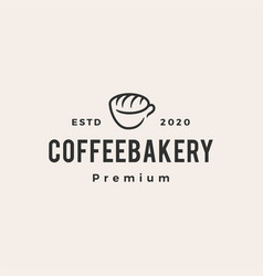 coffee bakery hipster vintage logo icon vector image