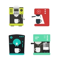Coffee Machine with a Cup Set vector image