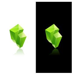 crystal stone logo design vector image