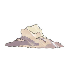 Cumulus cloud weather natural meteorology vector