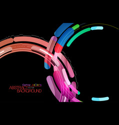 Curvy and colorful ideas vector
