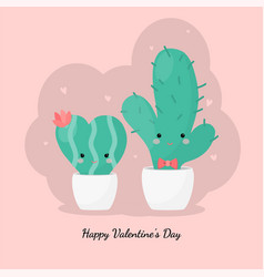 cute succulents in white pot hand drawn style for vector image