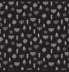 Cute tribal seamless pattern with hand drawn vector