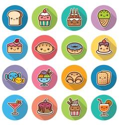 dessert vector image