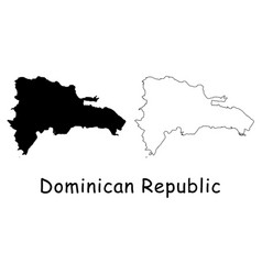 Dominican republic map vector