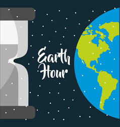 Earth hour international event ecology safety vector