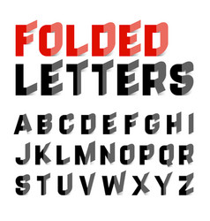 folded alphabet letters vector image