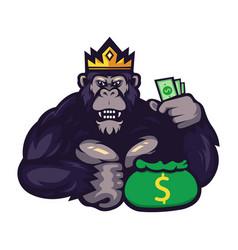 Gorilla cartoon mascot vector