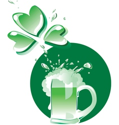 green beer on patrick day vector image