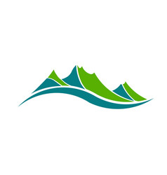 Green mountains vector