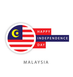 Happy malaysia independence day template design vector