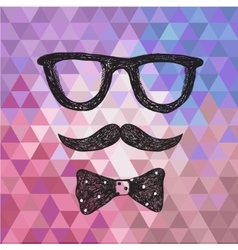 hipster poster card vector image