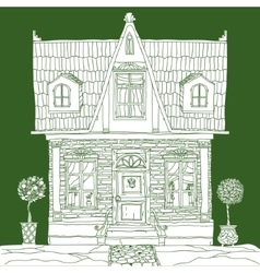 house on green vector image