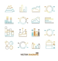 Infographic Set Element Outline vector image