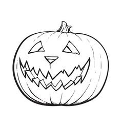 Jack o lantern pumpkin with scary face vector