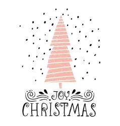 Joy Christmas- winter holiday saying Hand drawn vector
