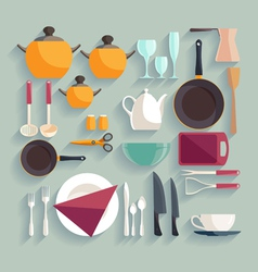 Kitchen workplace vector image