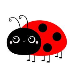 Ladybug ladybird icon cute cartoon kawaii smiling vector