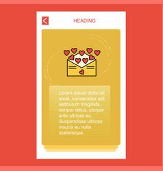 love letter mobile vertical banner design design vector image