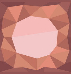 Low poly rocky frame vector
