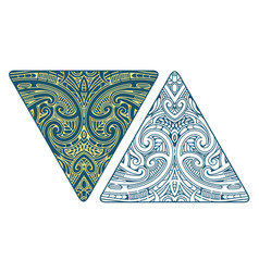 maori style ornament with koru elements vector image