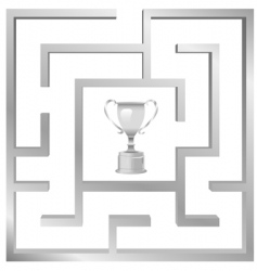 maze problem vector image