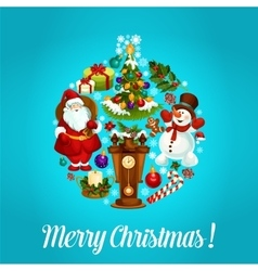 Merry christmas greeting design vector