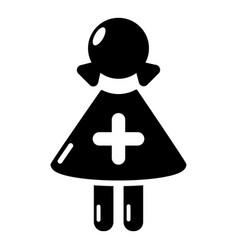 nurse icon simple black style vector image