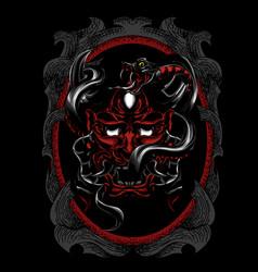 Oni satan snake vector