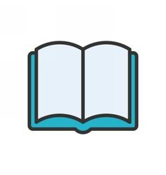 Open Book Outline Icon vector